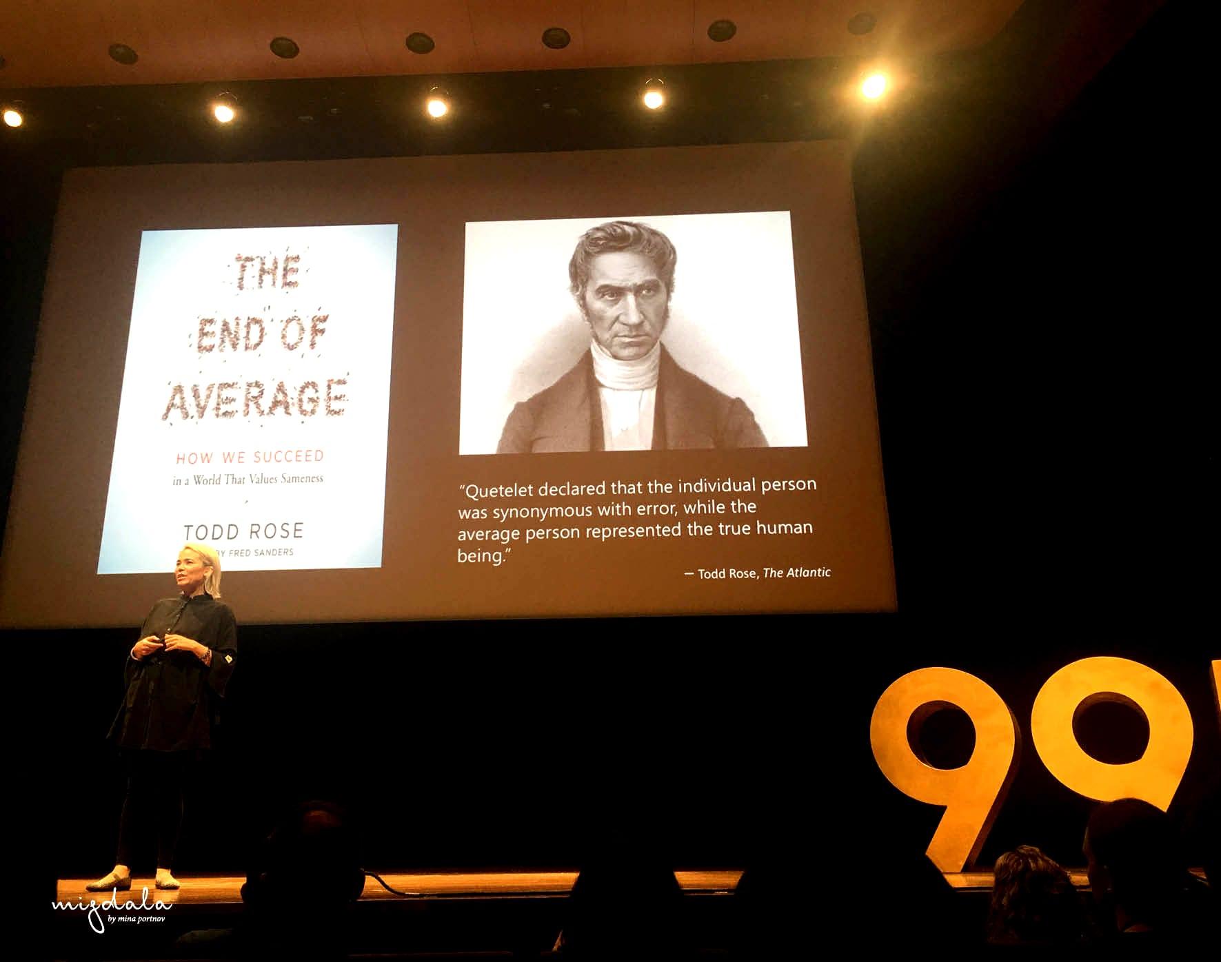 ״סוף הממוצע״ של טוד רוס, מתוך הרצאה של קאט הולמס, 99U