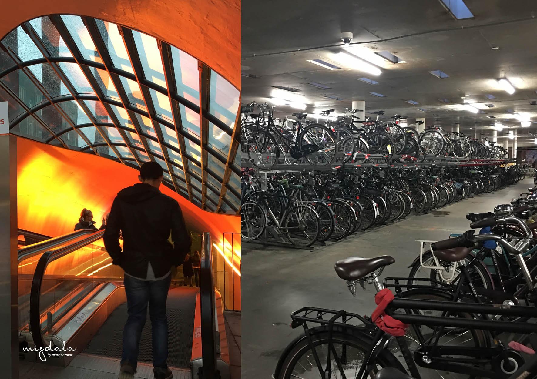 חניון אופניים שנקרא ה״בלוב הקטן״. מרכז איינדהובן
