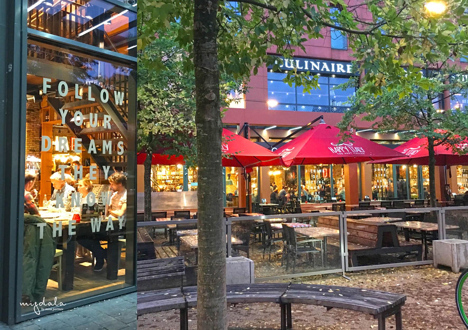 איזור אוכל, מסעדה איטלקית מעולה שבהמשכה שוק אוכל מקורה. איינדהובן 2019