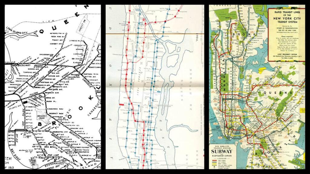 תמונות הסטוריות של מפות ניו יורק